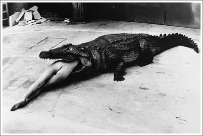 Helmut Newton alligator