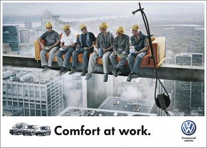 Almuerzo en el rascacielos, Volkswagen remake