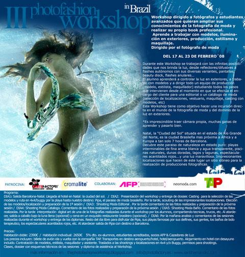 III Brasil Photofashion workshop