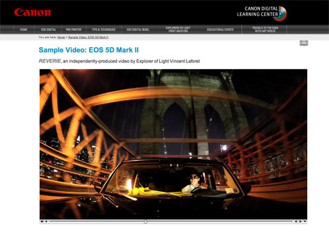 Video con la Canon 5d mark II