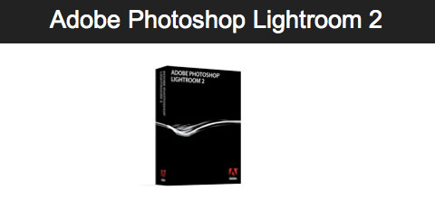 Adobe Photoshop Lightroom 2.2