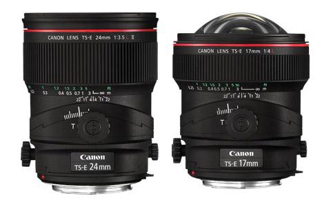 Canon TS-E 17 mm f/4L y TS-E 24 mm f/3,5L II